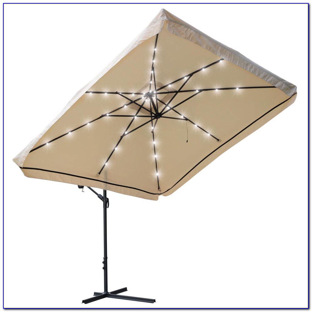 Thresholdtm Square Offset Patio Umbrella And Base 9
