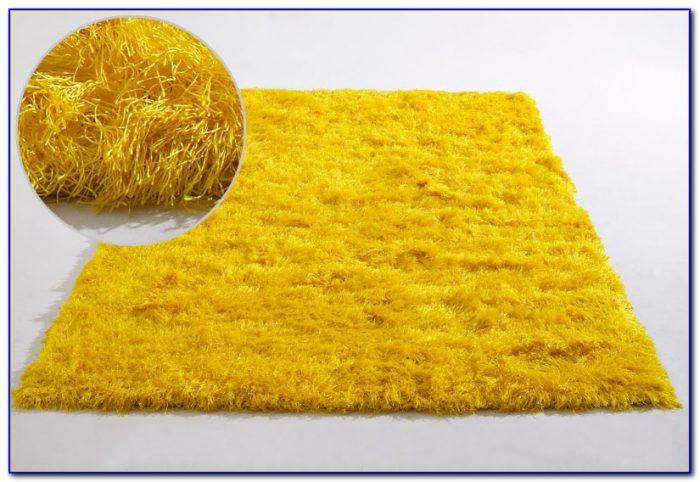 Yellow Shag Rug