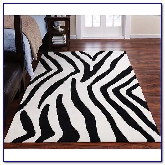 Zebra Area Rug 5x8