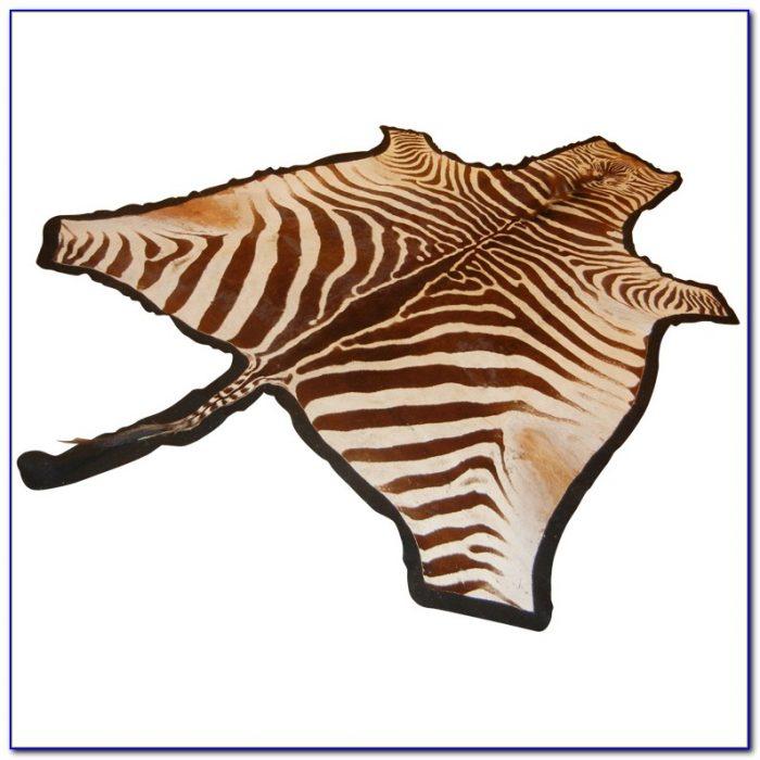 Zebra Hide Rug Faux