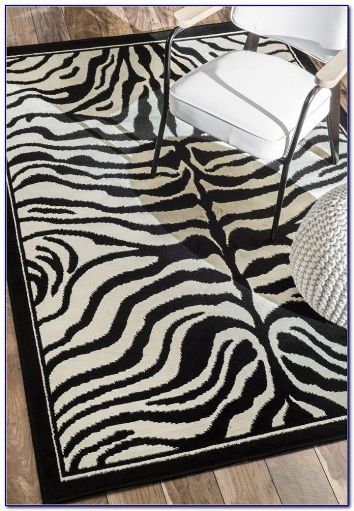 Zebra Print Rug 5 X 7