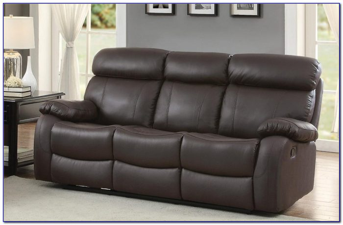 100 Top Grain Leather Reclining Sofa