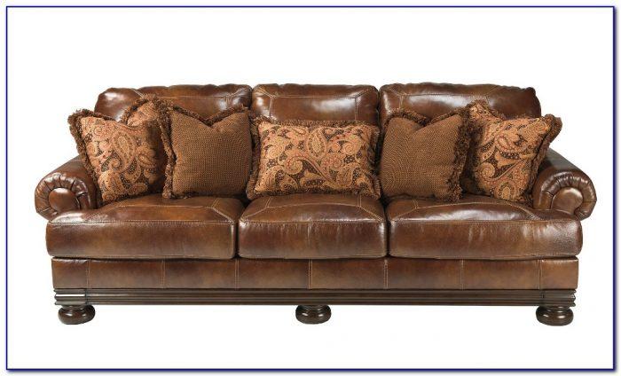 Ashley Furniture Leather Sofa Set