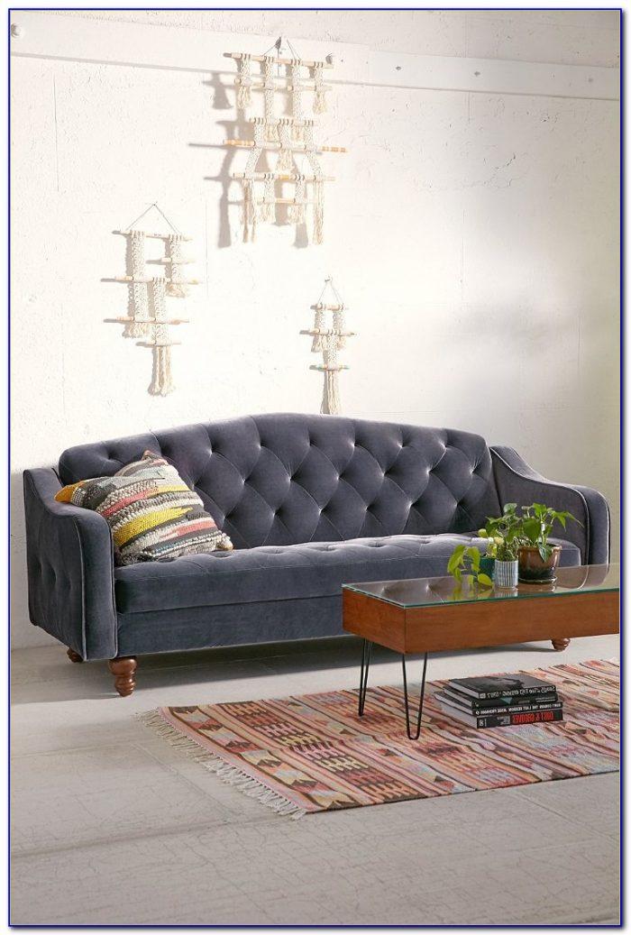 Ava Velvet Tufted Sleeper Sofa Canada