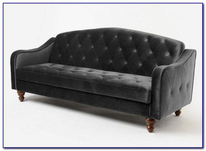 Ava Velvet Tufted Sleeper Sofa Ebay