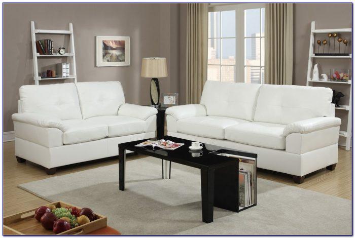 Black Leather Sofa And Loveseat Set