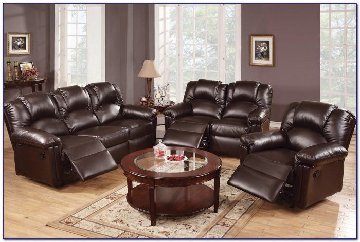 Bonded Leather Sofa And Loveseat Set