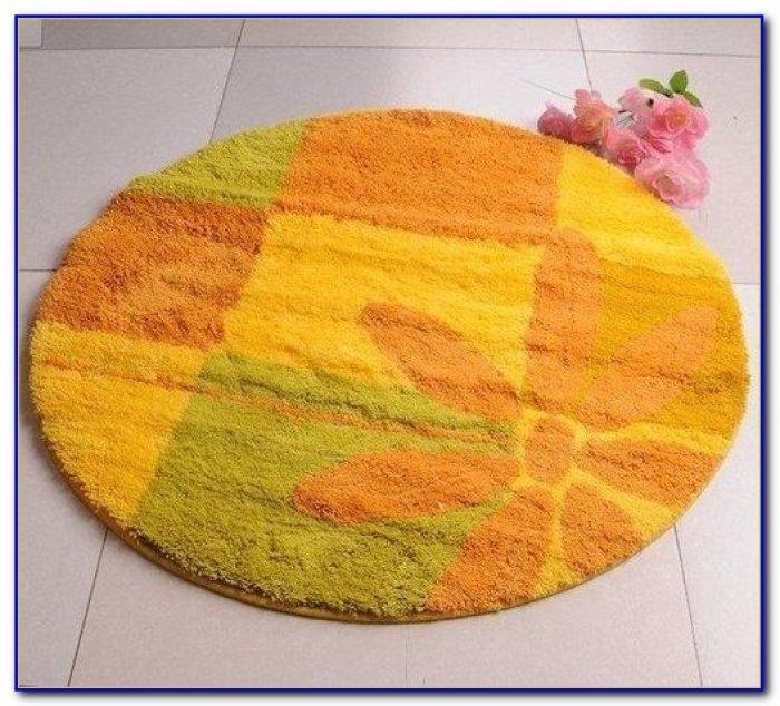 Bright Colorful Bathroom Rugs