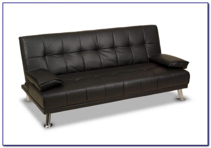 Brown Leather Futon Sofa Bed