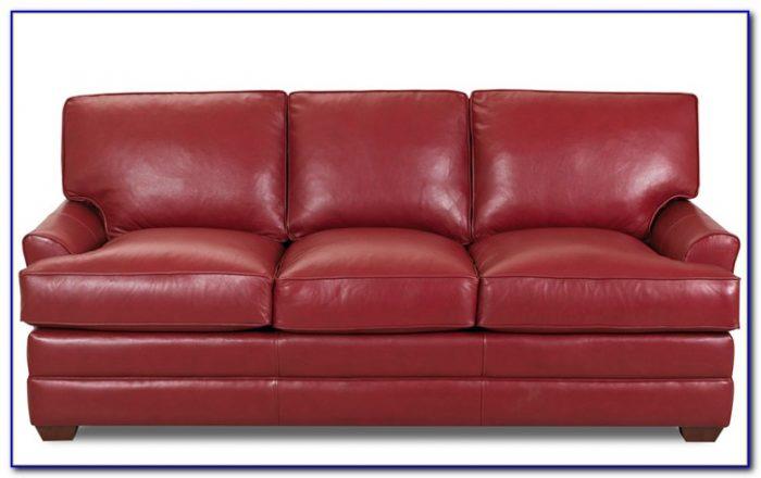 Brown Leather Sleeper Sofa Queen