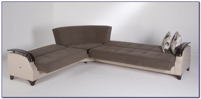 Brown Microfiber Recliner Sectional Sleeper Sofa