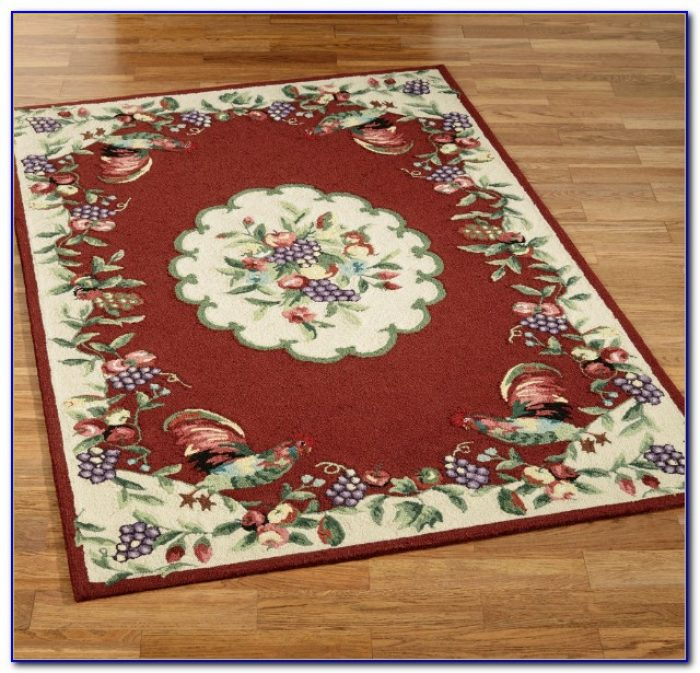Checkered Rooster Area Rugs