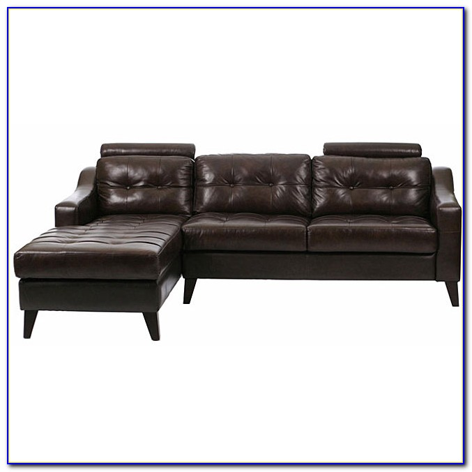 Chesterfield Tufted Brown Leather Sofa