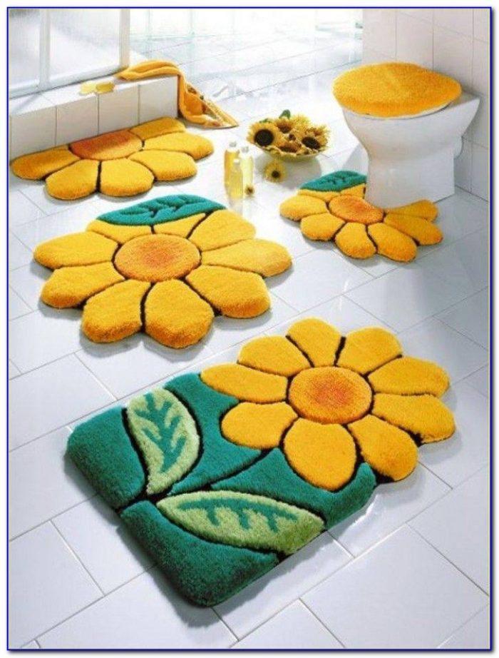 Colorful Cotton Bath Rugs