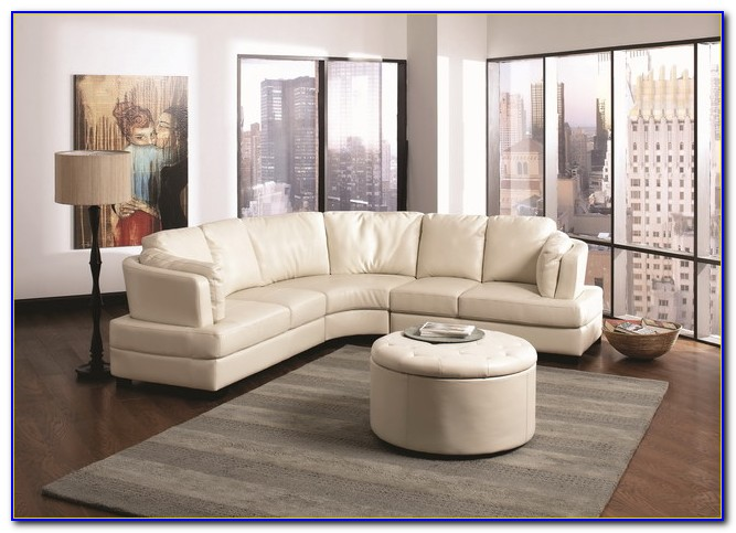 Cornell Bonded Leather Curved Sofa Sectional
