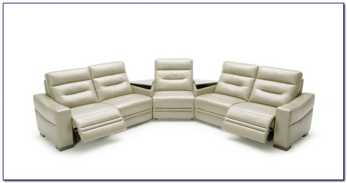 Genuine Italian Leather Curved Shaped Sectional Sofa