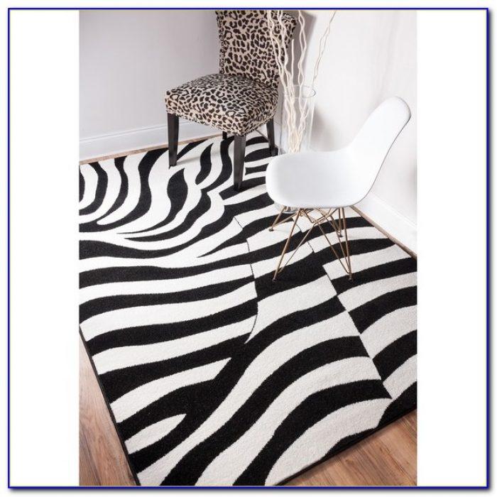 Gray Zebra Area Rug