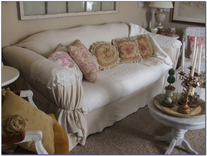 How To Make A Sofa Slipcover Without Sewing