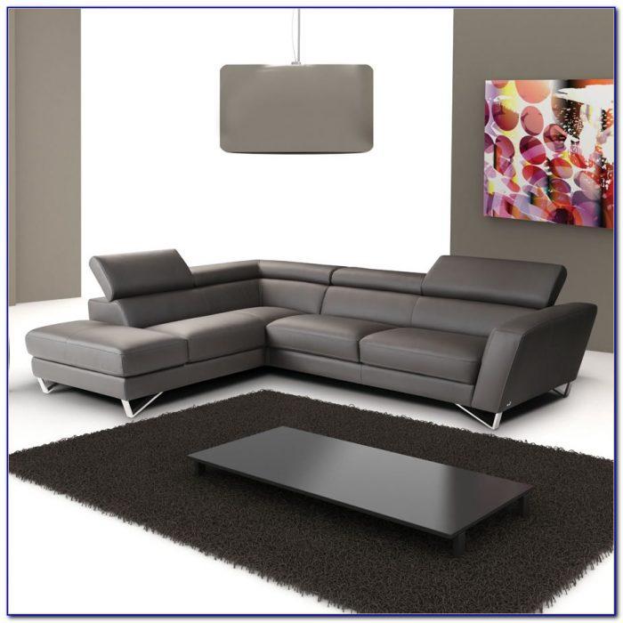Italian Leather Sectional Sofa Chaise