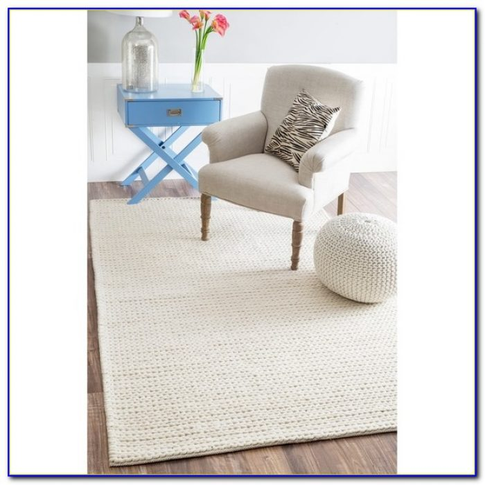 Large Chunky Braided Wool Rugs