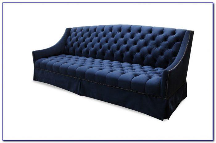Maria Tufted Velvet Sofa Blue