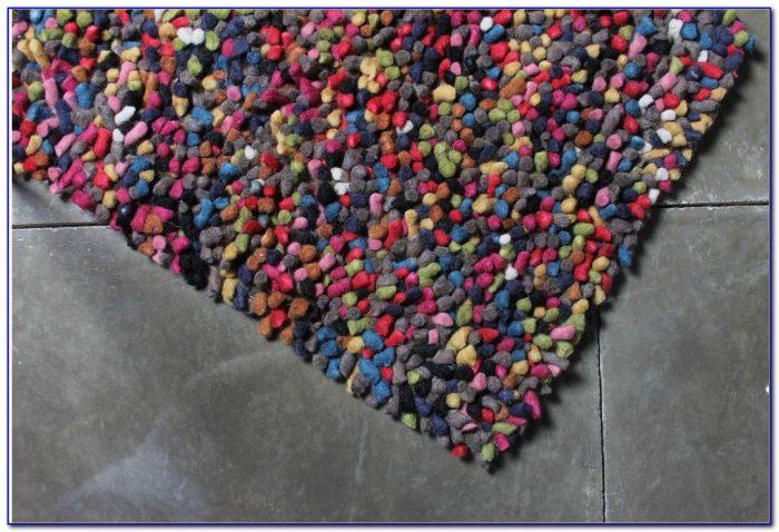 Multi Color Shag Rug