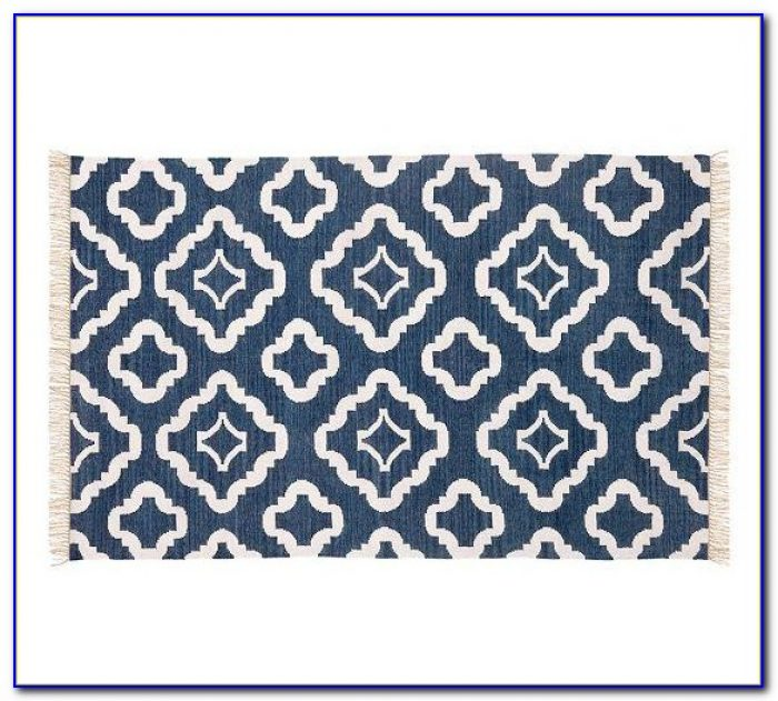 Navy Blue Bath Rug Runner
