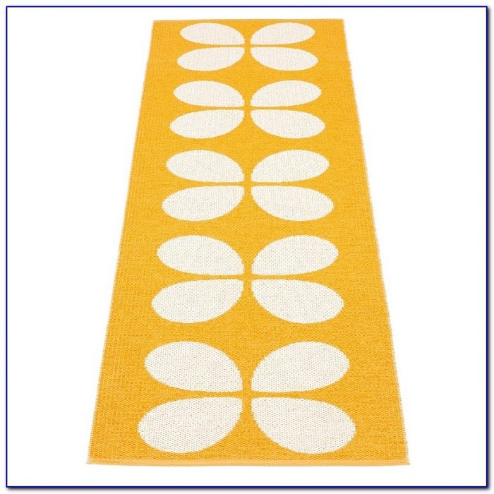 Orange Bath Rug Runner