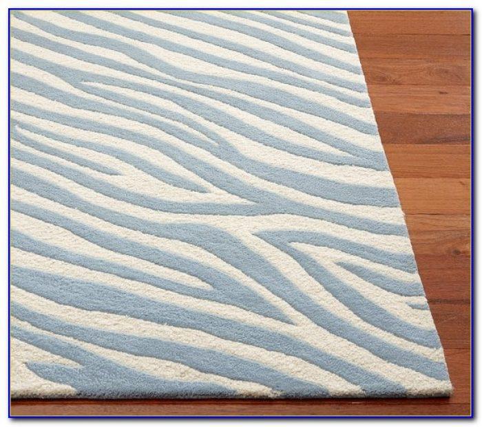Pottery Barn Zebra Print Rug