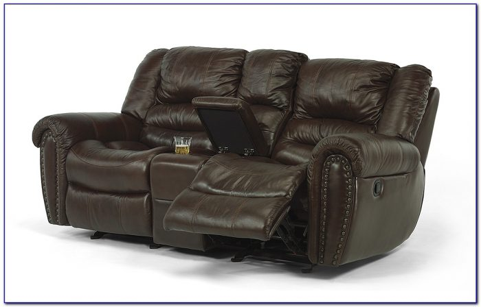 Reclining Sofa Set With Console