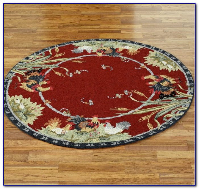 Round Rooster Area Rugs