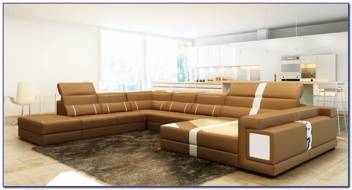 Simmons Bonded Leather Sectional Sofa