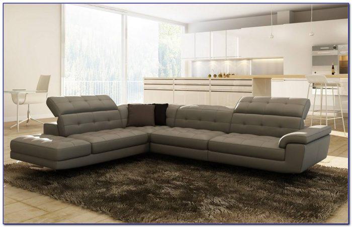 Sparta Italian Leather Sectional Sofa