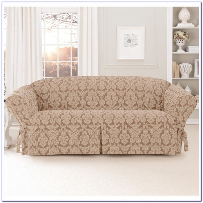 Sure Fit Sofa Slipcover Suede