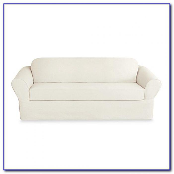 Sure Fit Sofa Slipcover White