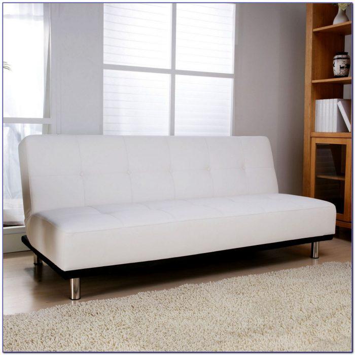 White Faux Leather Sleeper Sofa