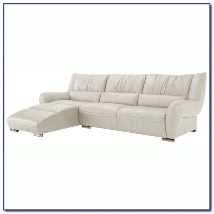 White Italian Leather Sectional Sofa