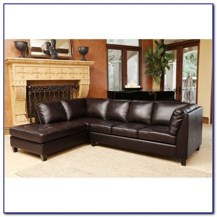 Abbyson Living Sienna Premium Top Grain Leather Sectional Sofa