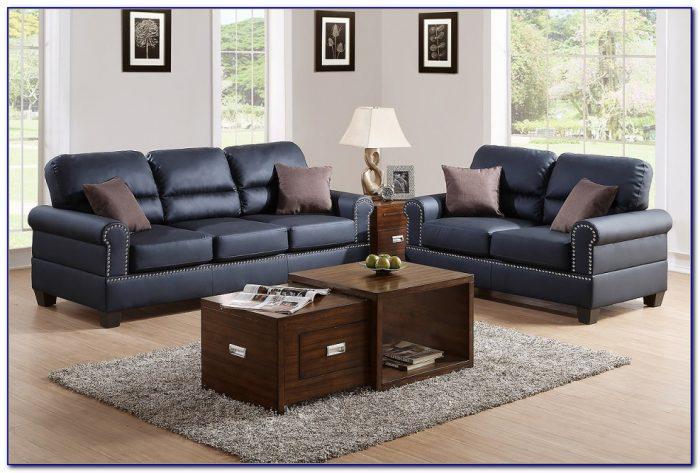Ashley Furniture Black Leather Sofa And Loveseat