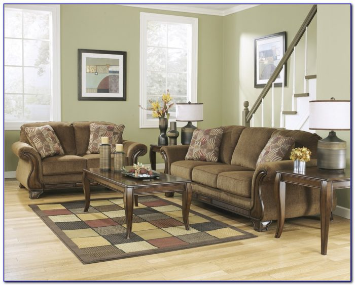 Ashley Furniture Black Sofa And Loveseat