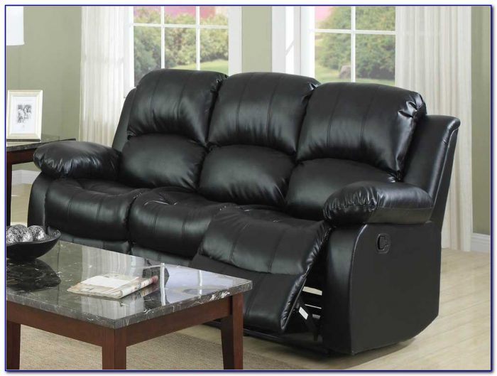 Black Leather Recliner Sofa Loveseat