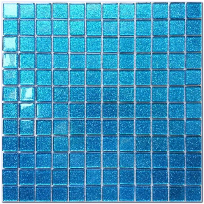 Blue Glass Mosaic Tile Sheets