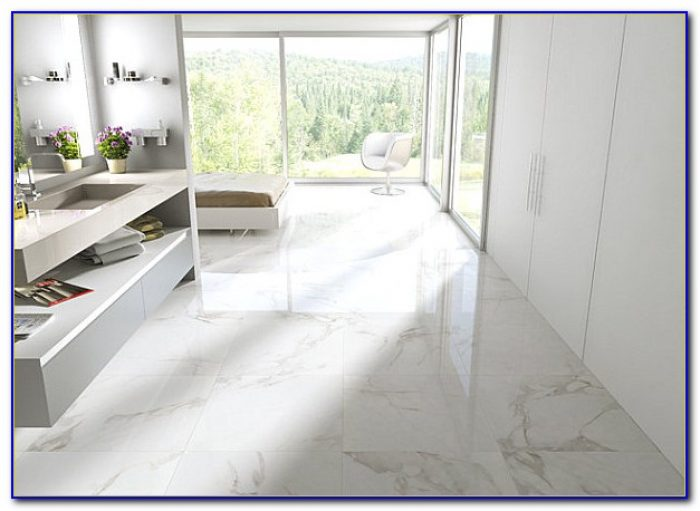 Carrara Marble Floor Tile Hexagon