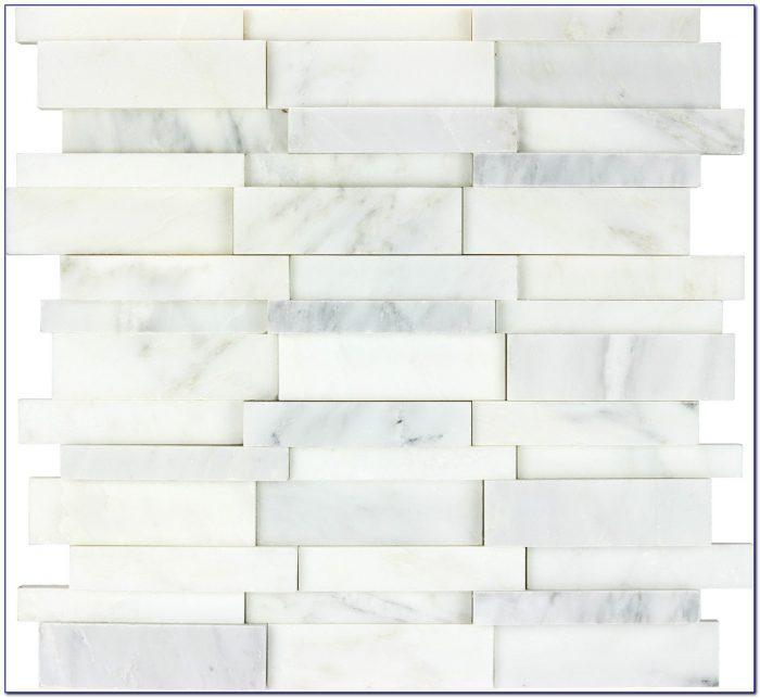 Carrara Marble Herringbone Mosaic Tile