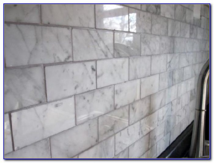 Carrara Marble Subway Tile Grout Color