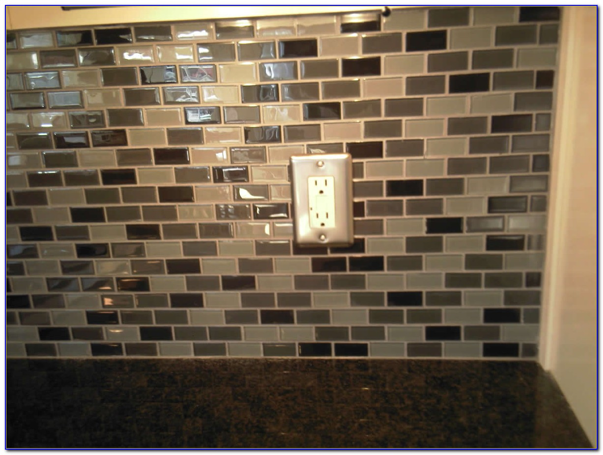 Glass Mosaic Tile Backsplash Edge