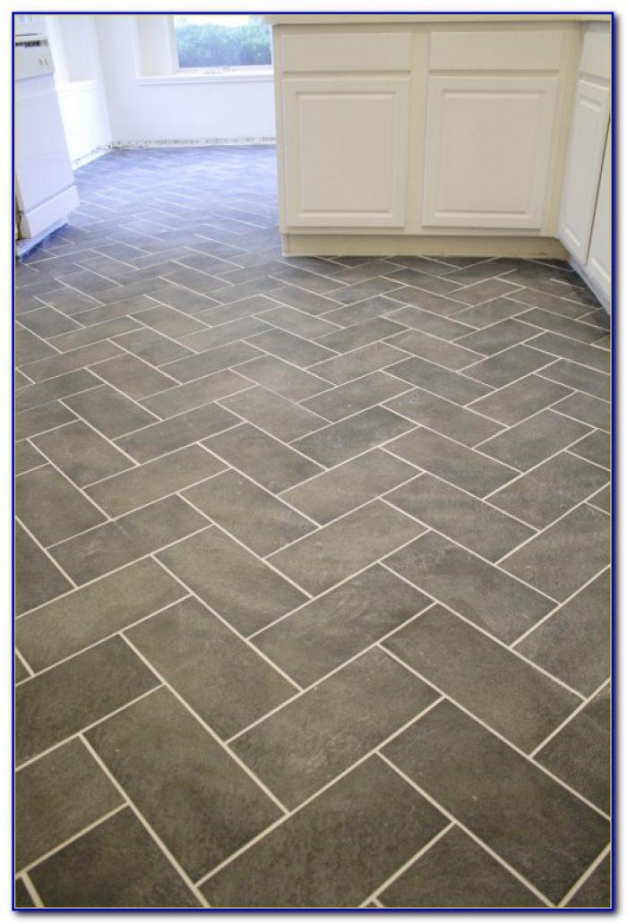 Herringbone Pattern Tile Floor