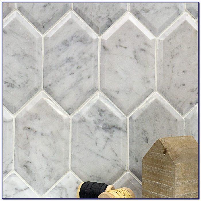 Honed Carrara Marble Hex Tile