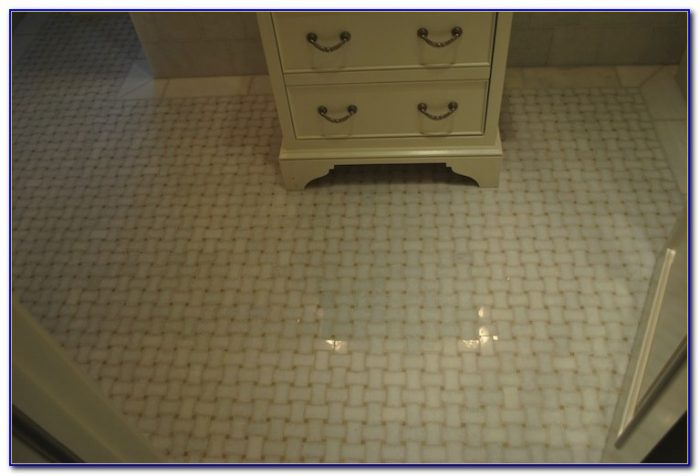 Installing Marble Basketweave Floor Tile