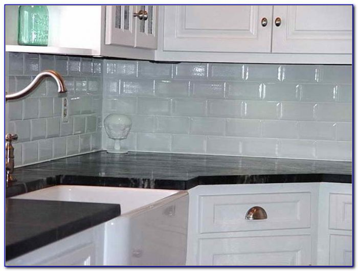 Kitchen Glass Subway Tile Backsplash